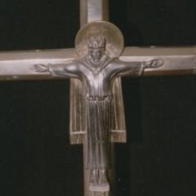 CRUCIFIX SILVER ALTAR CROSS