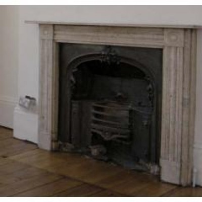 Two White Marble Chimneypieces