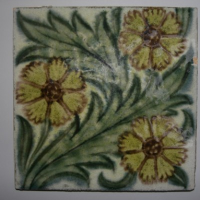 William De Morgan tiles [46 now recovered]