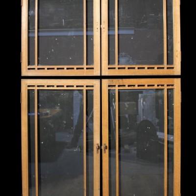 A set of 1920/ 30s glazed oak cupboard doors