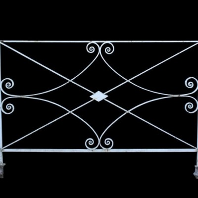 Two antique / reclaimed iron railings