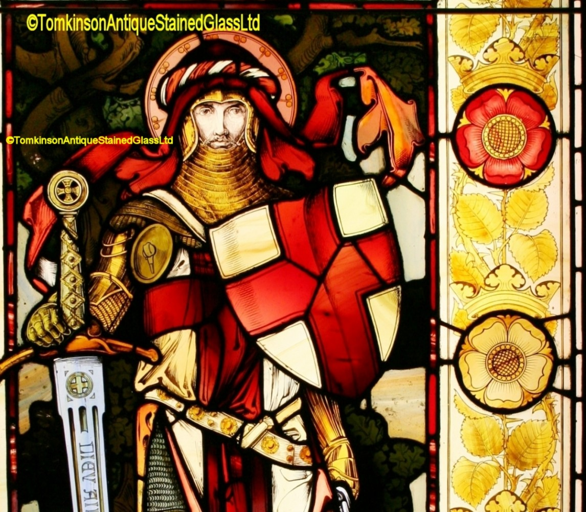 Victorian Stained Glass Window – George and the Dragon