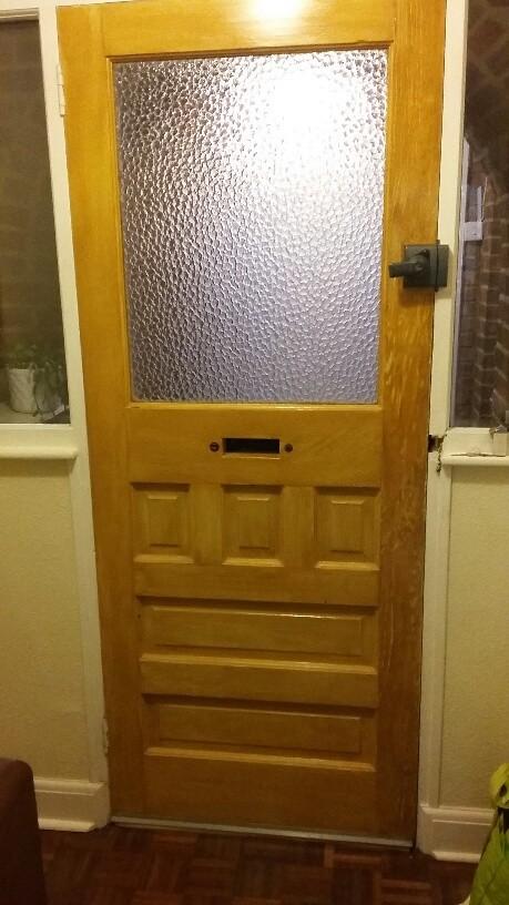 For Sale 1930s Exterior Part Glazed Unusual Front Door Salvoweb Uk