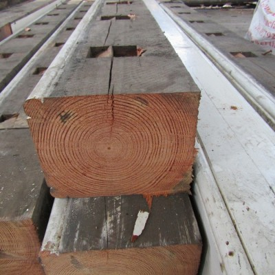 Pitch pine baulk timber.