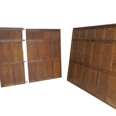 Antique Large Reclaimed Solid Oak Pitsawn Wall Panelling