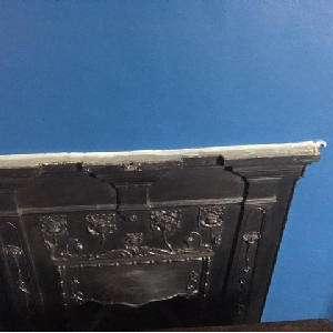 Cast iron shelf for Fireplace