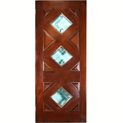 Solid Glazed Mahogany Door