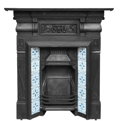 Antique Tiled Combination Fireplace