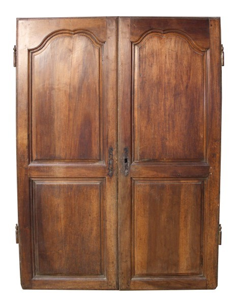 Pair Of 18th C. French Walnut Cupboard Doors