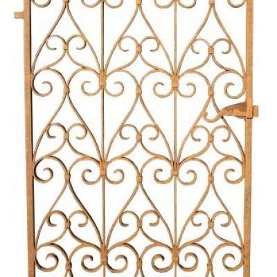 19th Century Wrought Iron Side Gate