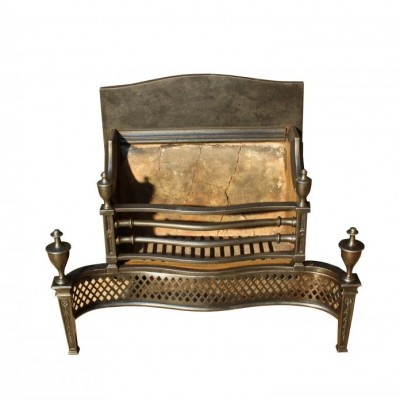 A late 19th C. cast iron fire grate