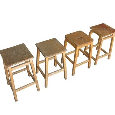 Old Solid Wooden Stools Ideal For Pubs and Restaurants