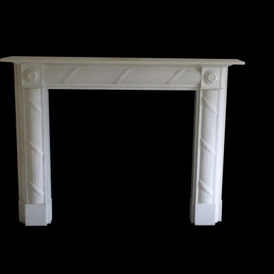 Regency style marble fire surround