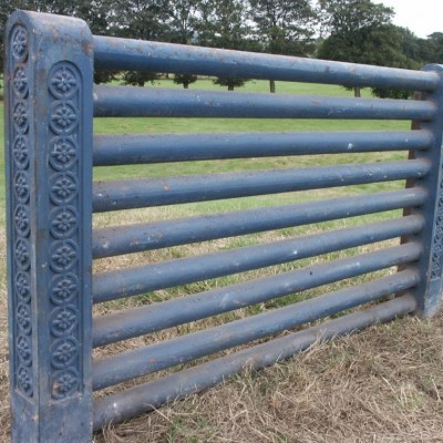 pair of decorative cast iron church radiators