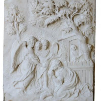 19th Century Statuary Marble Plaque