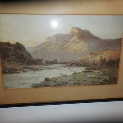 print fred de breanski highland scene
