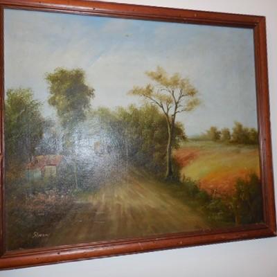 oil painting on canvas sig simon