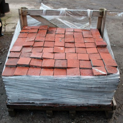 Reclaimed 4 inch quarry tiles