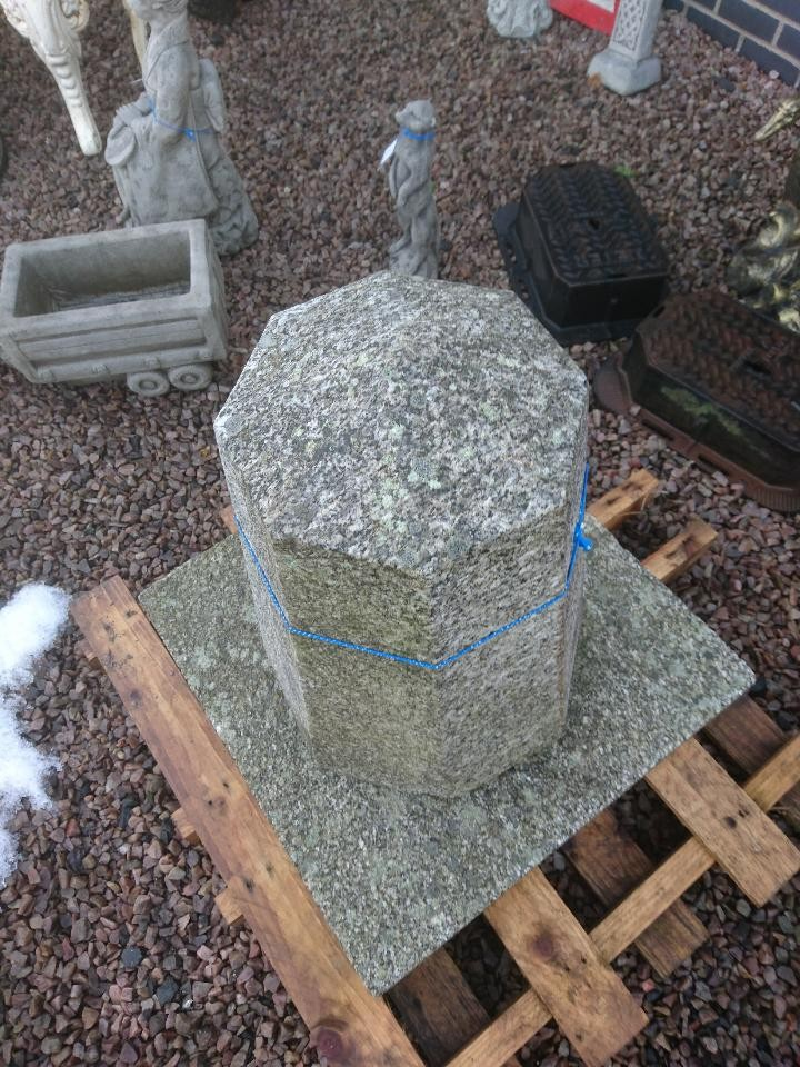 reclaimed silver granite bollard