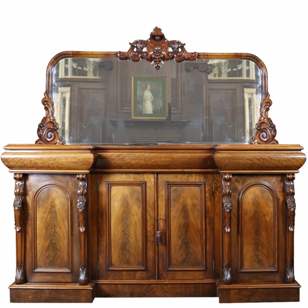 For Sale Antique Mahogany Sideboard And Mirror Salvoweb Uk