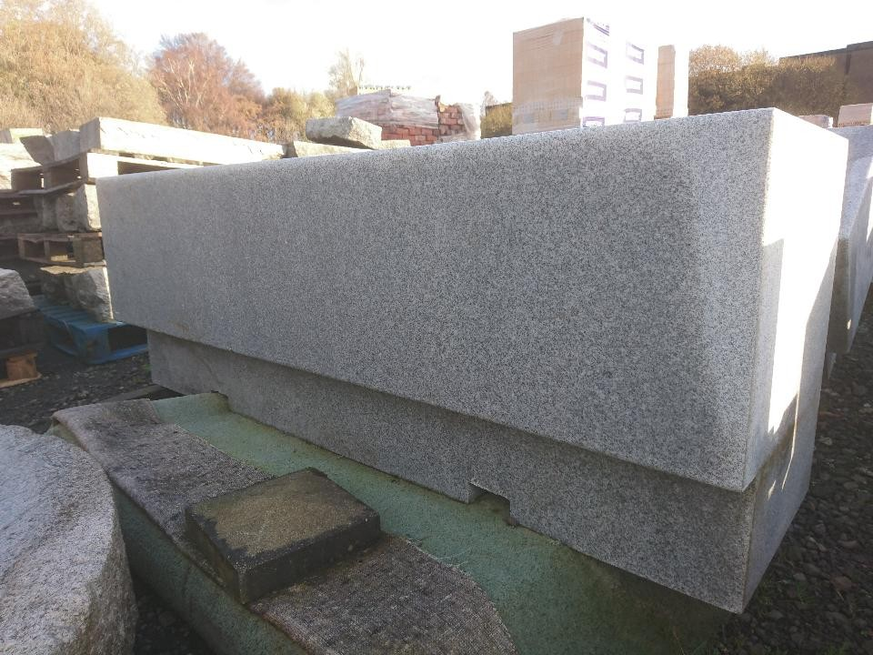 Gigantic Silver Granite Bench