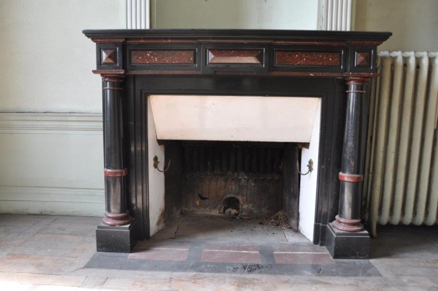 Cheminee Empire en marbre - Antique marble chimney piece