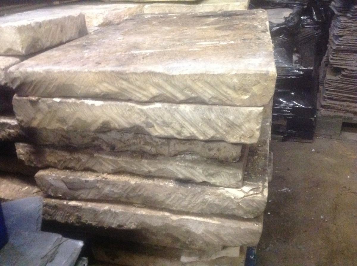 Cotswold stone flagstones ,reclaimed Blue Lias and reclaimed Purbeck flagstones