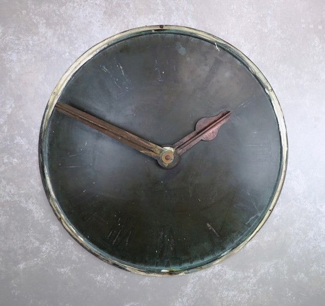 Victorian Copper Wall Mounted Clock