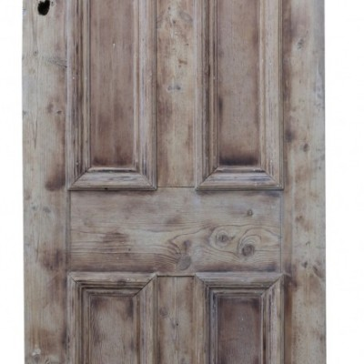 Victorian Stripped Pine Reclaimed Front Door