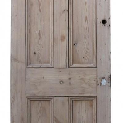 Victorian Stripped Pine Reclaimed Front Door