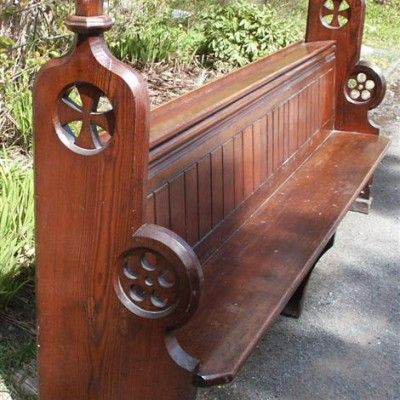 decorative carved church pews