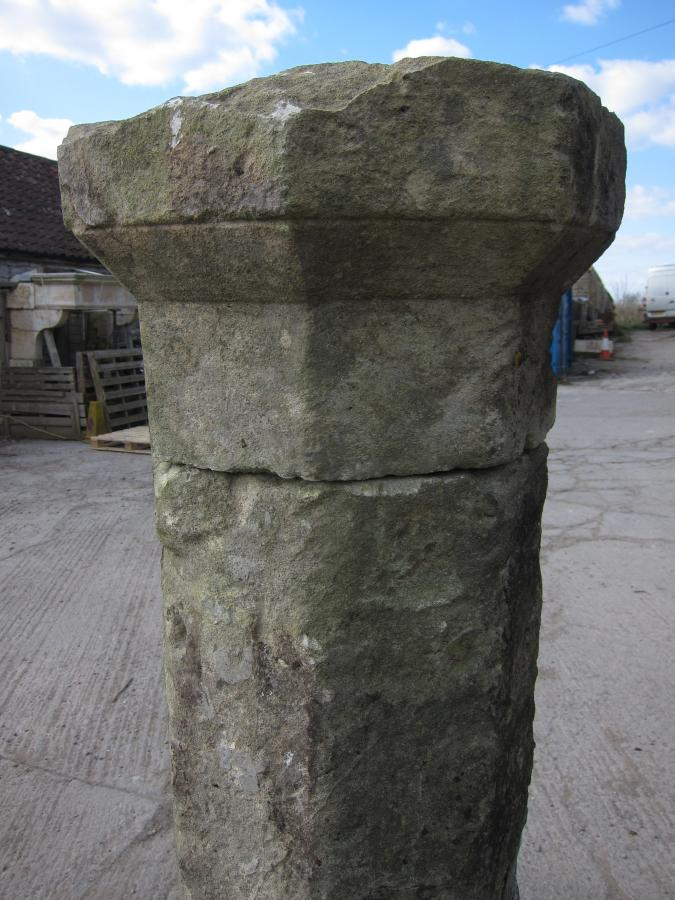 Antique Bathstone Gate Posts