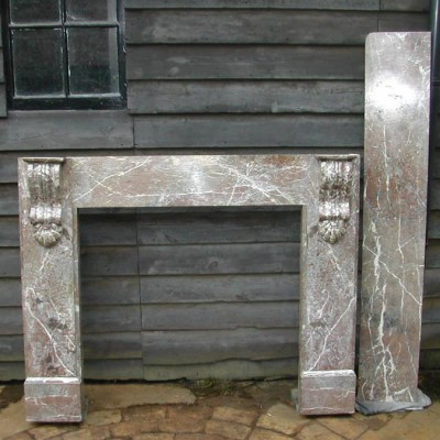 Victorian rouge marble surround