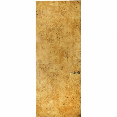 Reclaimed Mahogany + Birds Eye Maple Door - 213.5 x 82 cm