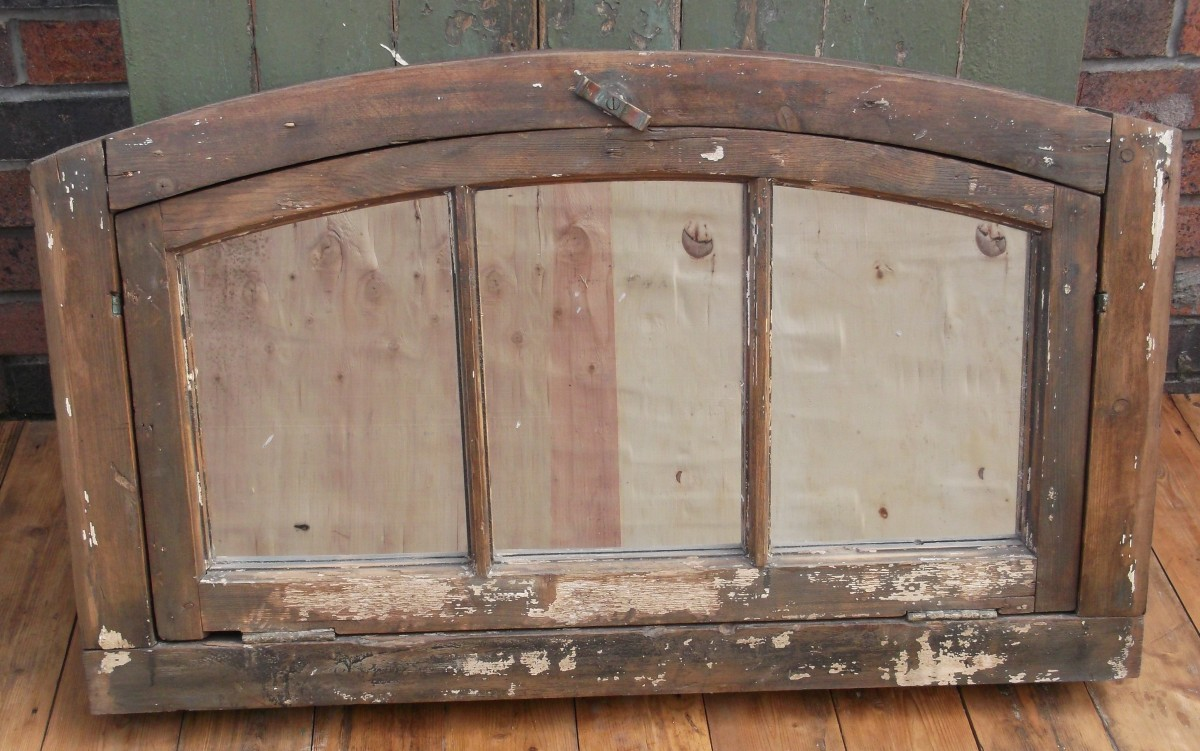 Arched Wooden Mirror