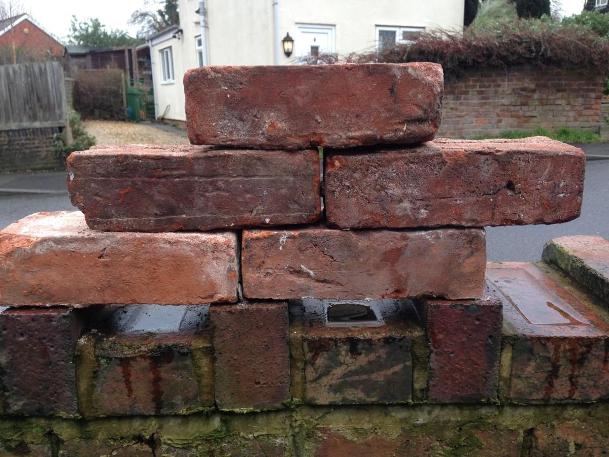 2 3/4ins - 7cm antique handmade bricks - 150,000 for sale