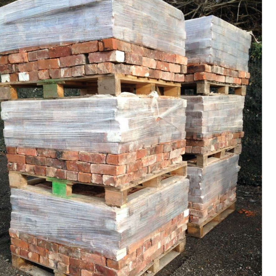 150,000 salvaged bricks from a single dismantled building