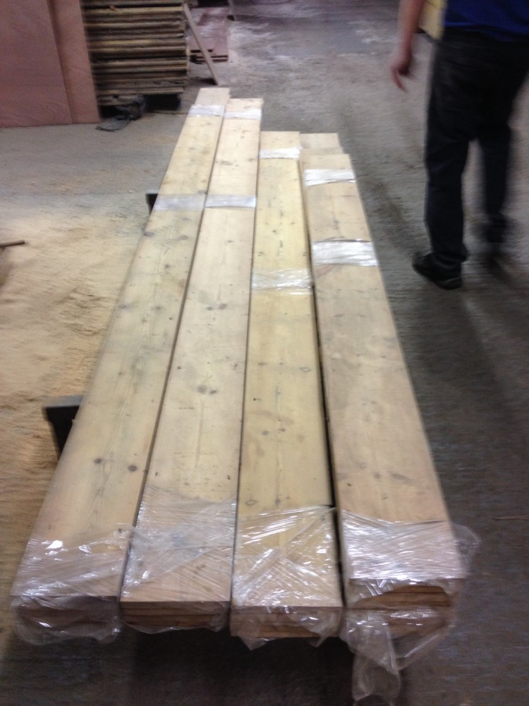 Reclaimed Wide Pine boards.