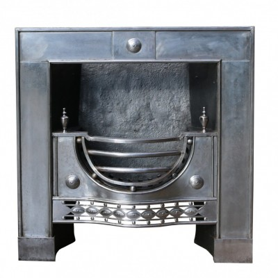 English George Iii Polished Steel Register Grate Circa. 1760-1790