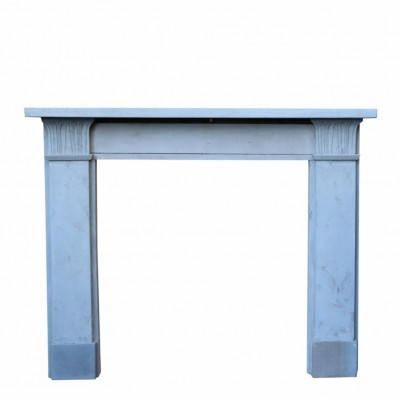 19th Century Pale Stone Fire Surround