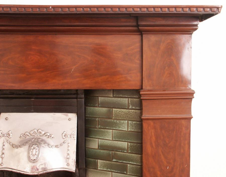 Cast iron fire surround with insert - complete