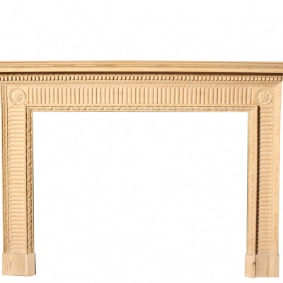 Finely Carved Early 19th Century Pine Fire Surround