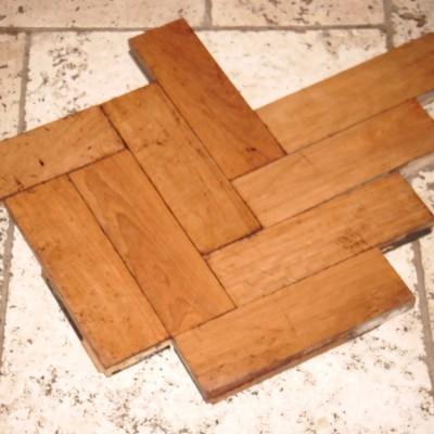 Parquet flooring muhuhu hardwood