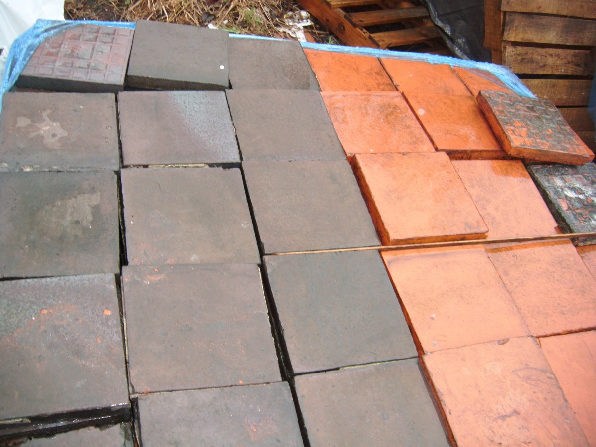 "Quarry tiles 9 "" x 9"""