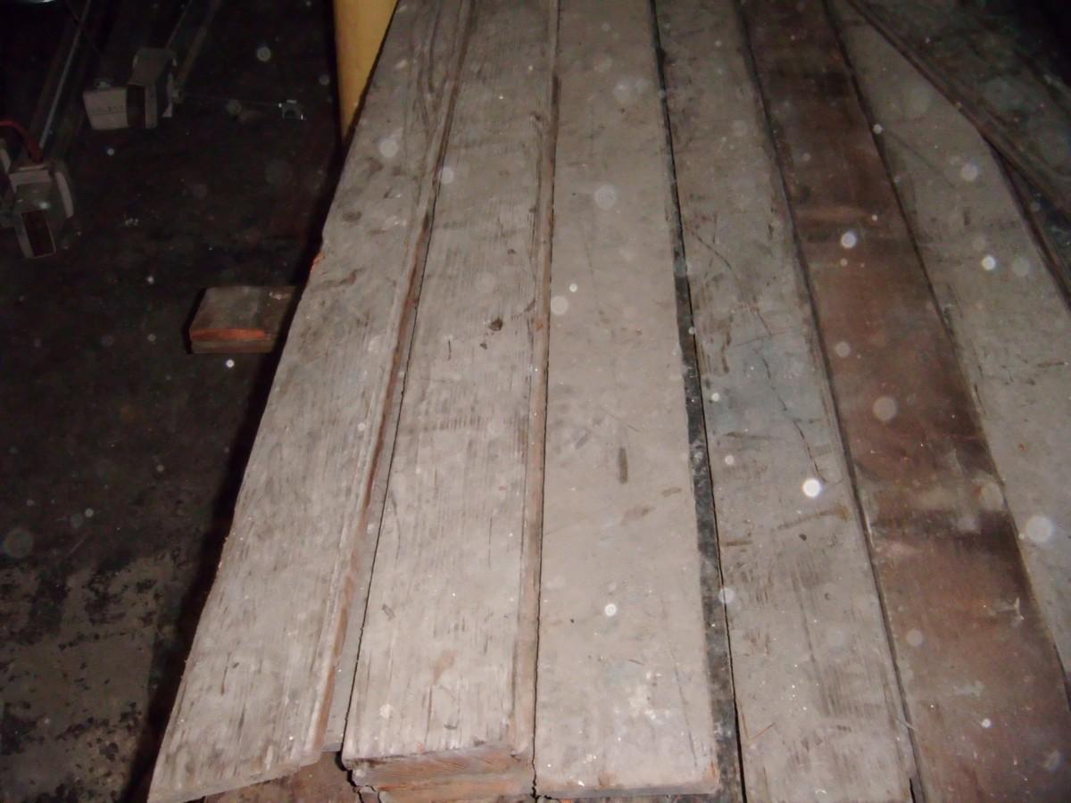 Pitch pine strip flooring