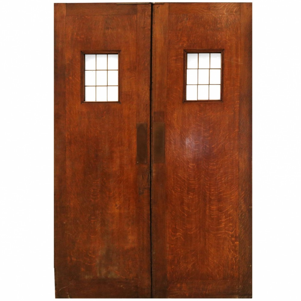 1930's Solid Oak Double Doors