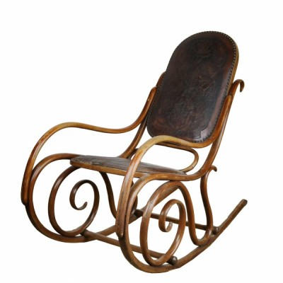 French Thonet Bentwood Rocking Chair