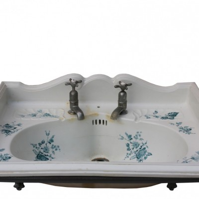 Late 19th Century Antique Transfer Printed Basin