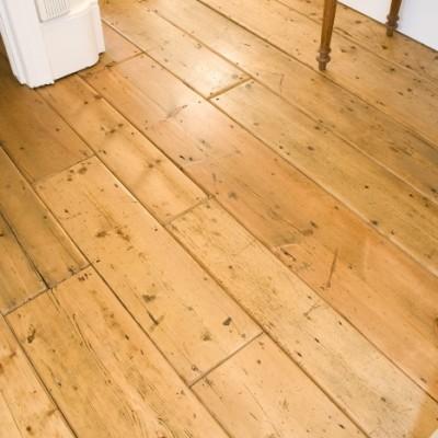 Victorian original pine floorboards