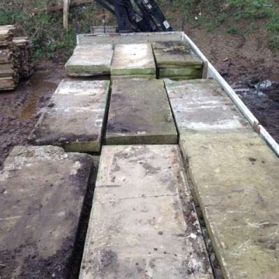 Reclaimed Large 2m Long York Stone Slabs x70
